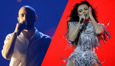 Eurovision 2021: Second rehearsal for Tornike Kipiani from Georiga and Axhela Peristeri from Albania