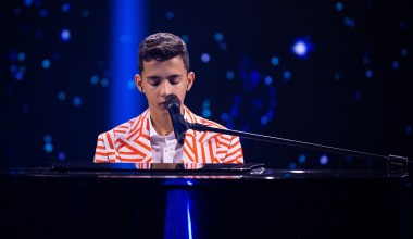 JESC 2020 First Shootings footage:  Petar Aničić from Serbia records his entry